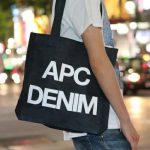 おしゃれに見えるバッグ!! A.P.C. アー・ペー・セー 新作デニムトートが発売!TOTE BAG APC DENIM