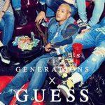 4月12日発売!! GENERATIONS × GUESS コラボコレクションの一部が再販決定!Tシャツ4型|ゲス