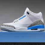 """Nike Air Jordan 3 Retro """"UNC"""" は控えめな水色の配色にセンスを感じる!抽選まとめ 水色"""