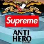 "Supreme|2020AW Week14より ""Anti Hero"" とのコラボ全型を事前にチェック!抽選 11月28日"
